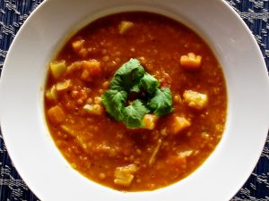 moroccan lentil and vegetable soup