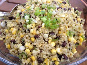quinoa and roasted corn